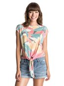 White Tattoo Tropical Monsoon - Cap Sleeve T-Shirt for Women - Roxy