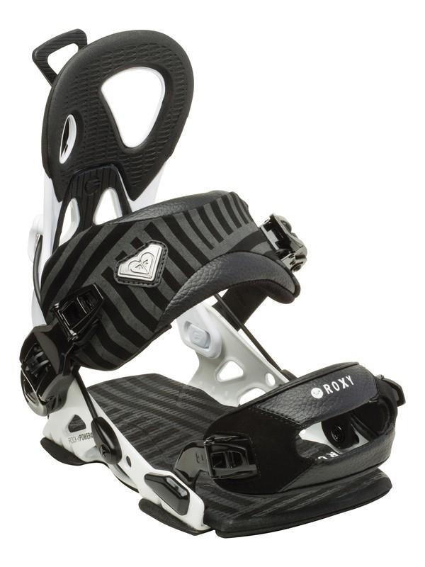 """0 Rock-It Power """"Medium"""" Snowboard Bindings  5235410 Roxy"""