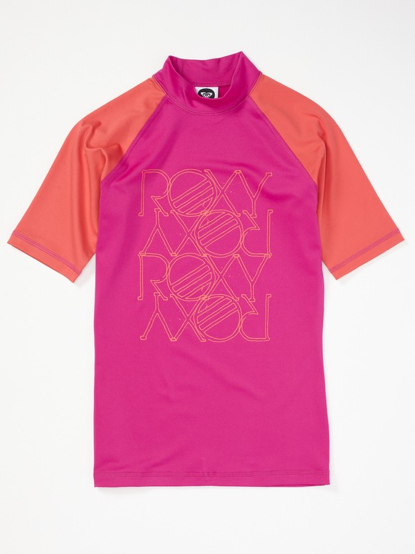 0 Girls 7-14 High Light SS Rashguard  AQGWR00009 Roxy