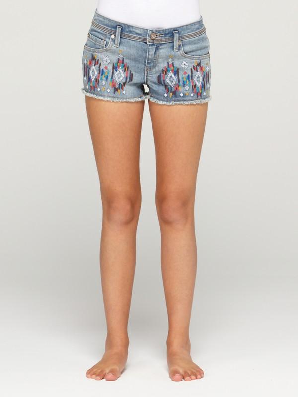 0 Girls 7-14 Blaze Embroidered Shorts  ARGDS00009 Roxy