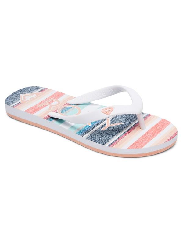 0 Girls 7-14 Tahiti Flip Flops Pink ARGL100030 Roxy