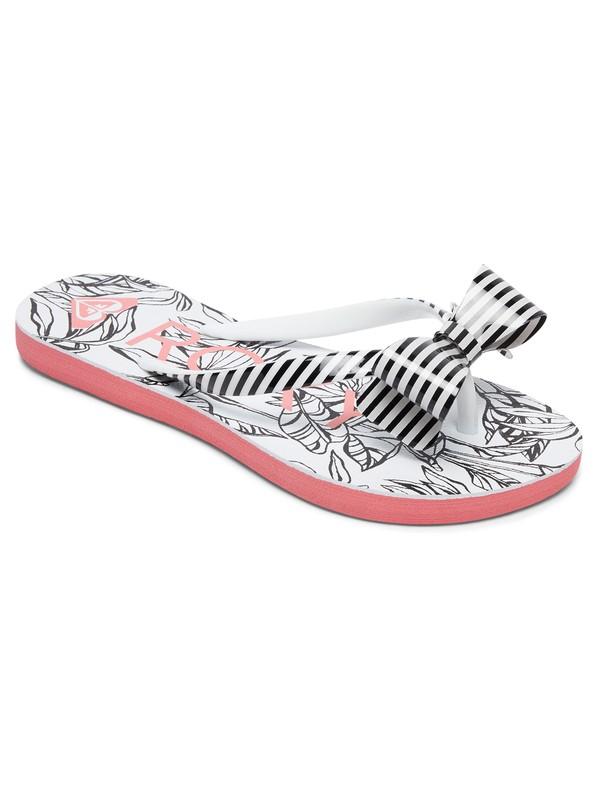 0 Girls 7-14 Lulu Flip Flops Black ARGL100073 Roxy