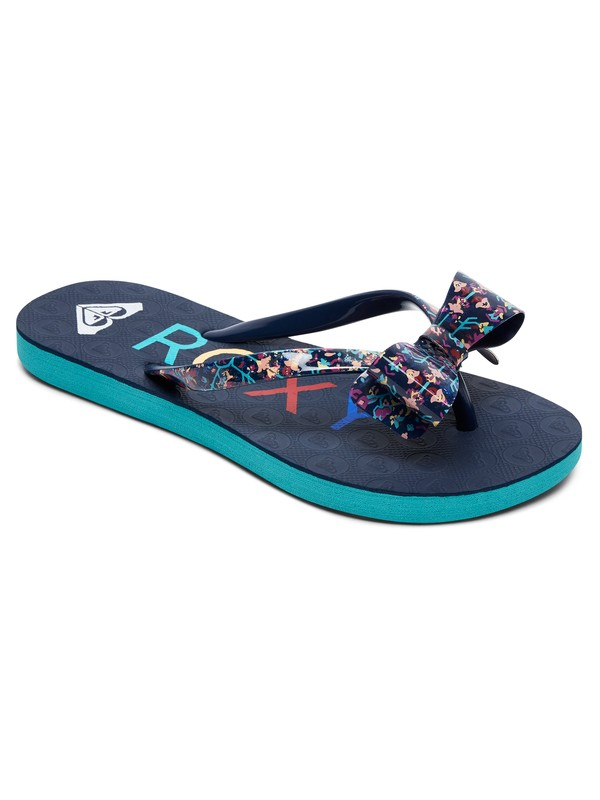 0 Girls 7-14 Lulu Flip Flops Blue ARGL100073 Roxy