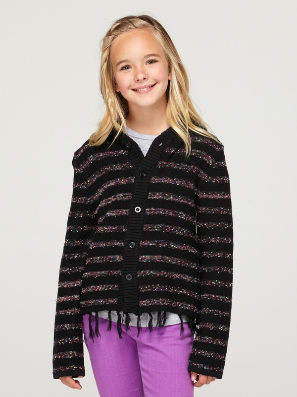 0 Girls 7-14 Sparks Fly Sweater Cardigan  ARGSW00004 Roxy