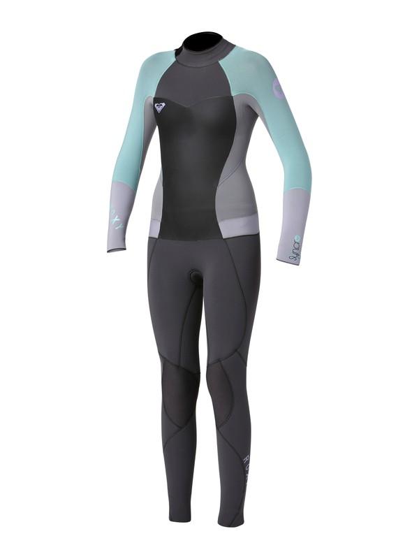 0 Girls 7- 14 Syncro 3/2mm Back Zip Wetsuit  ARGW103001 Roxy