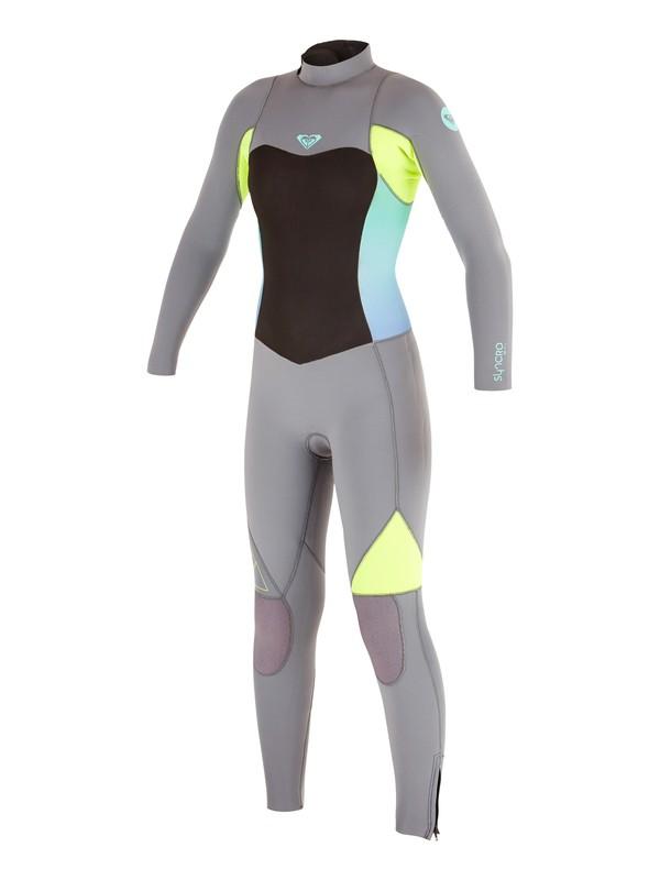 0 Girl's 7-14 4/3mm Syncro GBS Back Zip Wetsuit  ARGW103003 Roxy