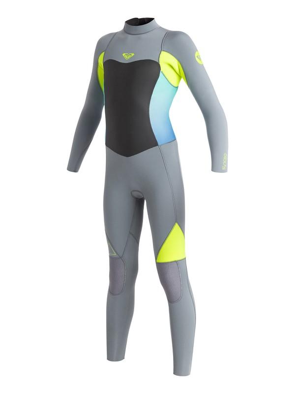 0 Girl's 7-14 3/2mm Syncro GBS Back Zip Wetsuit  ARGW103004 Roxy