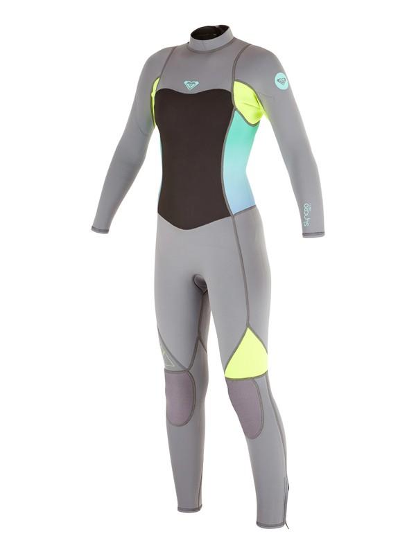 0 Girl's 7-14 3/2mm Syncro Flatlock Back Zip Wetsuit  ARGW103008 Roxy