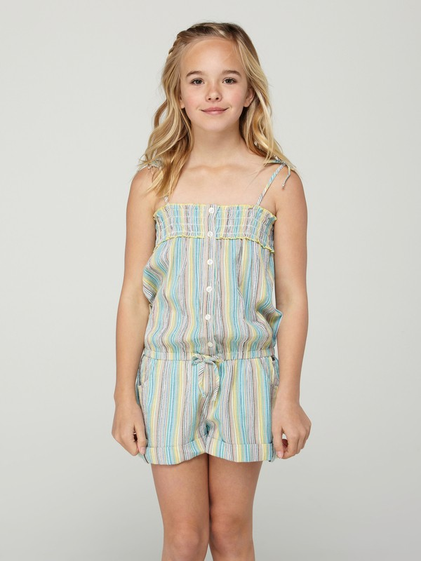 0 Girls 7-14 Salty Summer Romper  ARGWD00014 Roxy