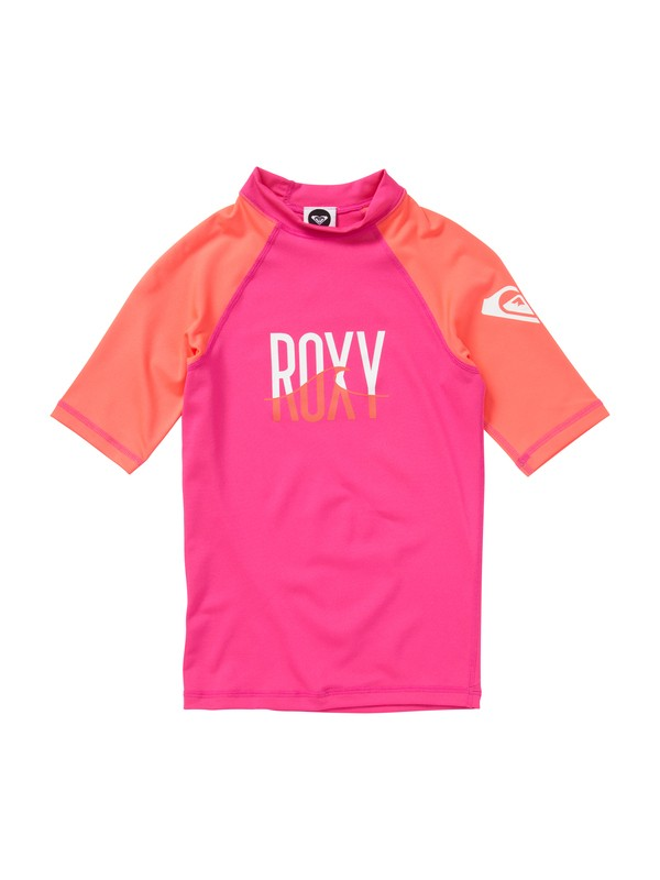 0 Girls 7- 14 Roxy Wave Short Sleeve Rashguard  ARGWR00015 Roxy