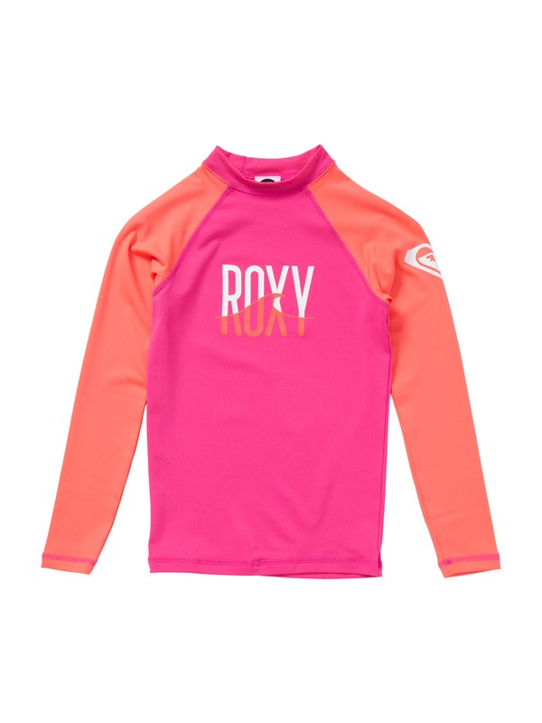 0 Girls 7- 14 Roxy Wave Long Sleeve Rashguard  ARGWR00016 Roxy