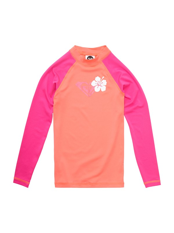 0 Girls 7- 14 Island Fever Long Sleeve Rashguard  ARGWR00023 Roxy
