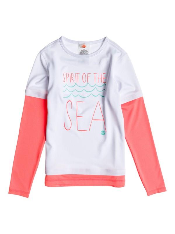 0 Girls 7-14 Sea & Sunshine LS Rashguard  ARGWR03000 Roxy