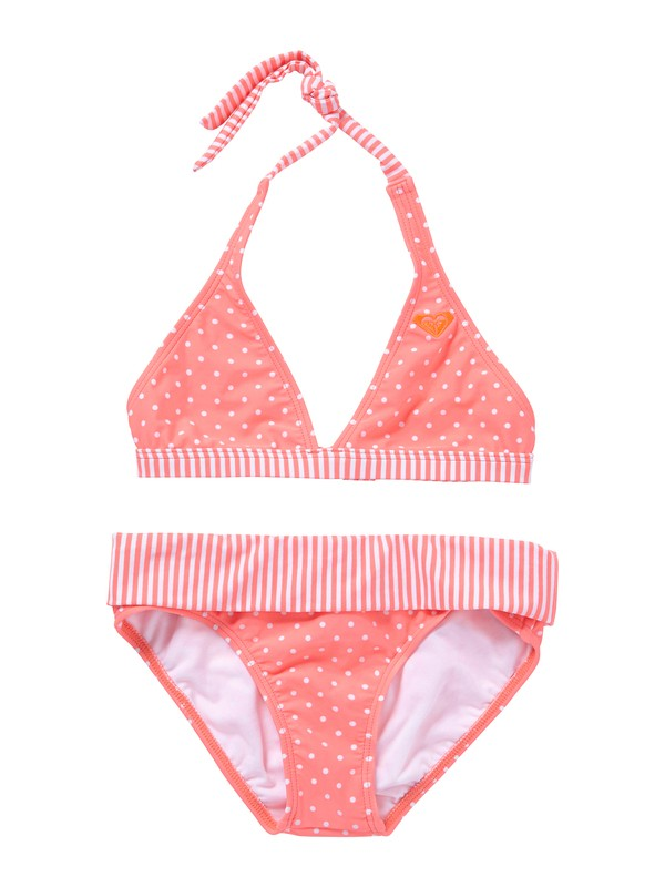 0 Girls 7-14 Doll Face Dot 70s Halter Set With Cups Swimsuit  ARGX200004 Roxy