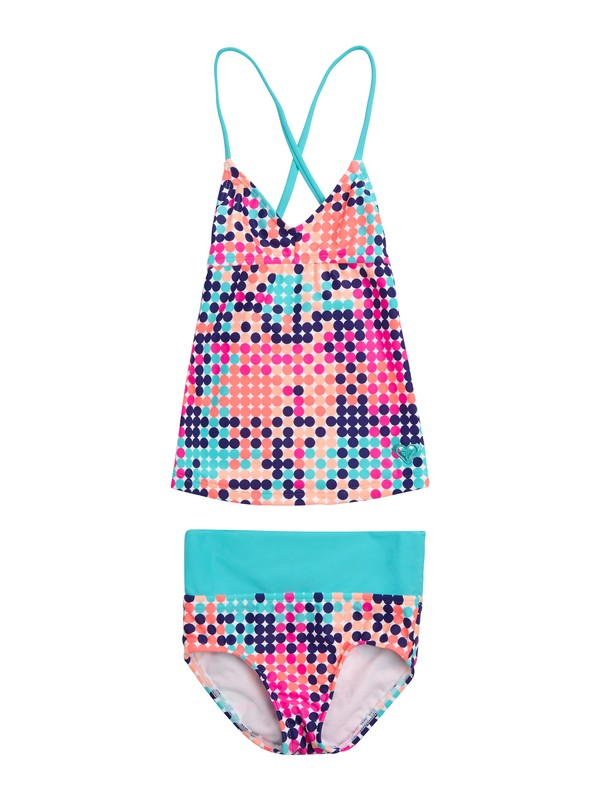 0 Girls 7-14 Peaceful Dreamer Criss Cross Tankini Set Swimsuit  ARGX200020 Roxy