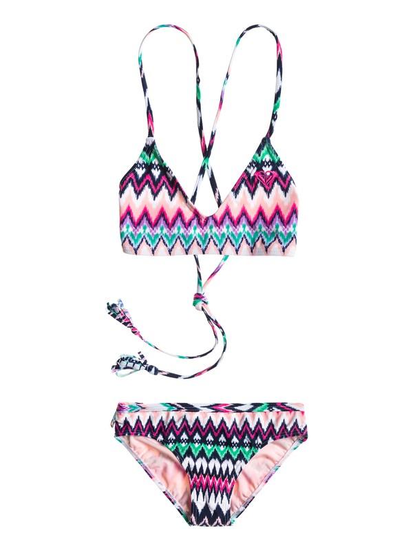 0 Girls 7-14 Criss Cross Swim Set  ARGX203008 Roxy