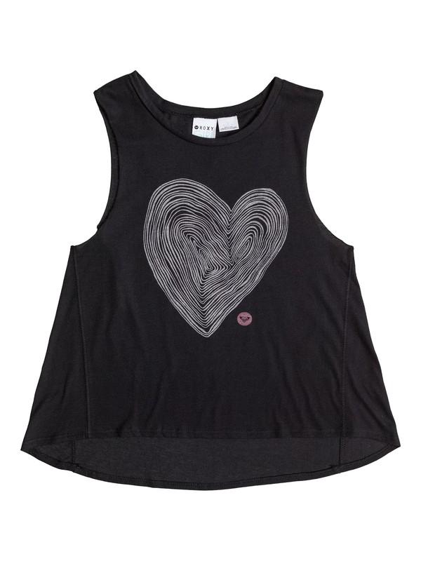 0 Girls 7-14 Woodcut Heart Tank  ARGZT03026 Roxy