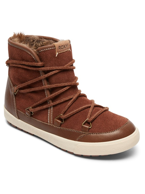 0 Darwin - Leather Snow Boots Beige ARJB300017 Roxy