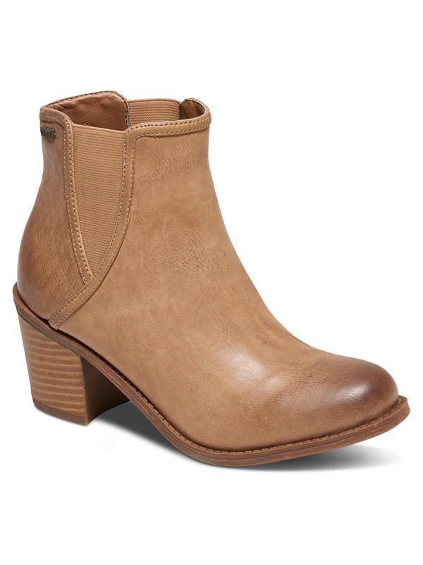 0 Grady Heeled Ankle Boots Beige ARJB700393 Roxy
