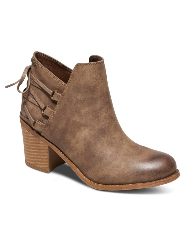 0 Dulce Heeled Ankle Boots Brown ARJB700394 Roxy