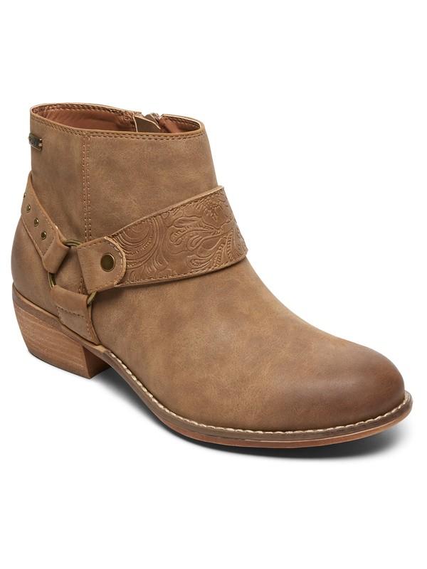 0 Fernanda Heeled Ankle Boot Beige ARJB700531 Roxy