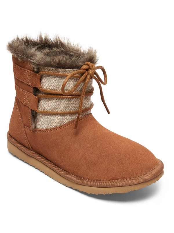 0 Tara - Suede Boots Brown ARJB700554 Roxy