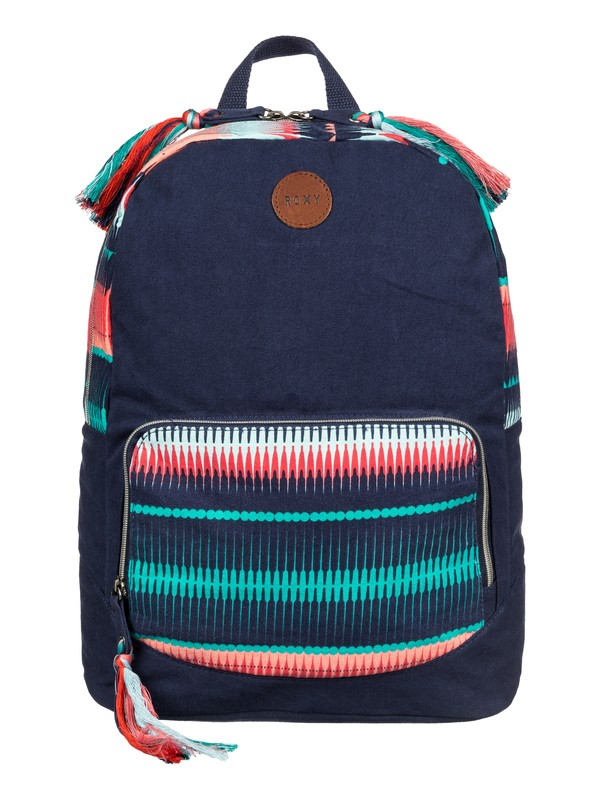 0 Primary - Printed Canvas Backpack  ARJBP03142 Roxy