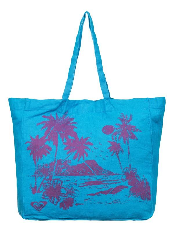0 Need It Now Printed Linen Beach Tote  ARJBP03145 Roxy