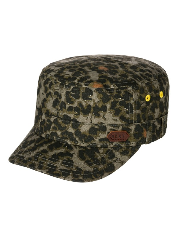 0 Locals Only - Printed Canvas Military Hat  ARJHA03044 Roxy
