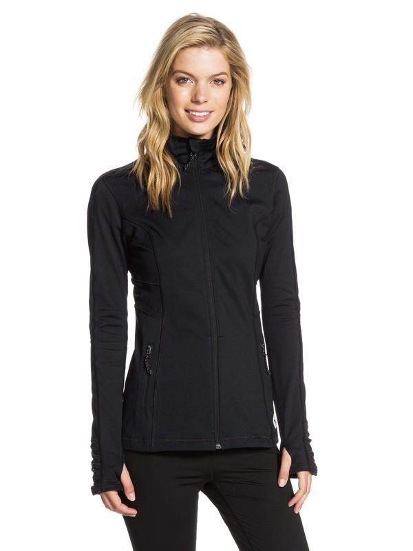 0 Work It - Long Sleeve Zip-Up Jacket  ARJJK03001 Roxy