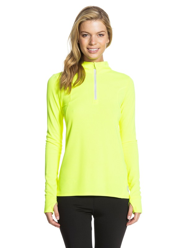 0 Keep Moving Long Sleeve Top Yellow ARJKT03018 Roxy