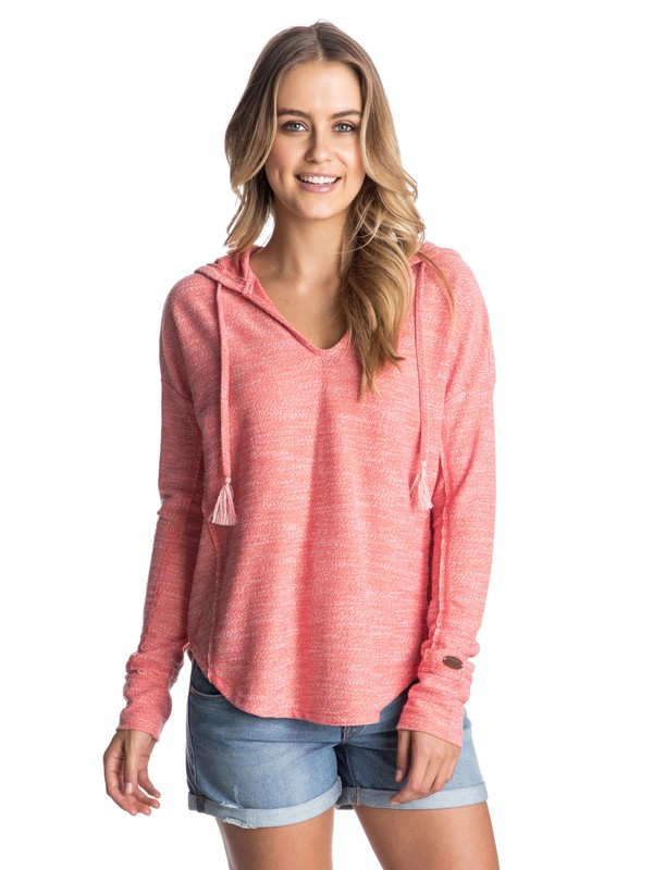 0 Seascape Surf - Hooded V-Neck Top  ARJKT03086 Roxy