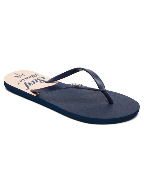0 Viva Stamp Flip Flops Blue ARJL100683 Roxy