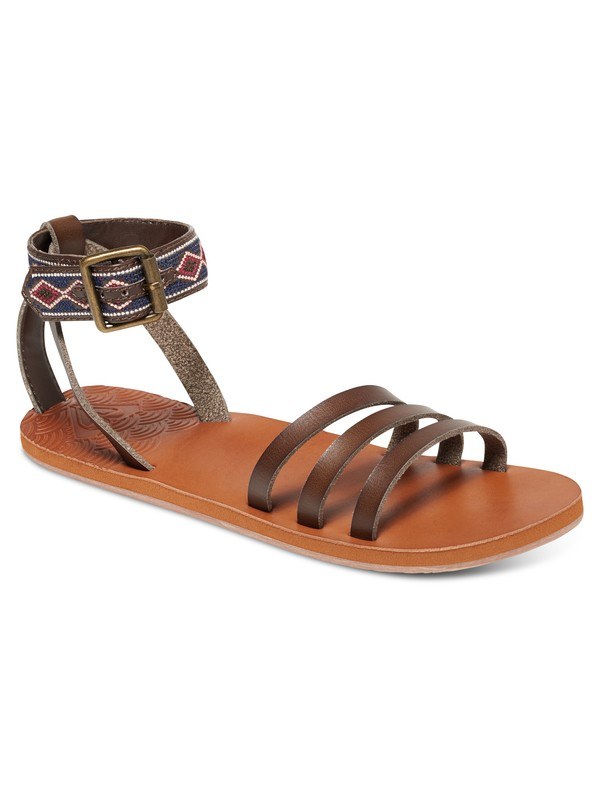 0 Lunas Sandals Brown ARJL200489 Roxy
