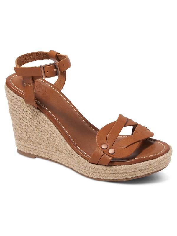 0 Lydia - Wedge Sandals Brown ARJL200535 Roxy