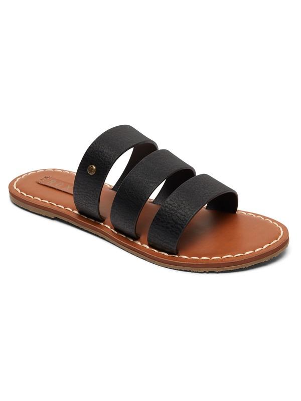 0 Sonia Three Strap Sandals Black ARJL200614 Roxy