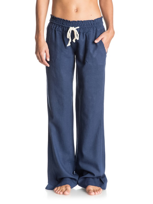 0 Oceanside Beach Pants Blue ARJNP03006 Roxy