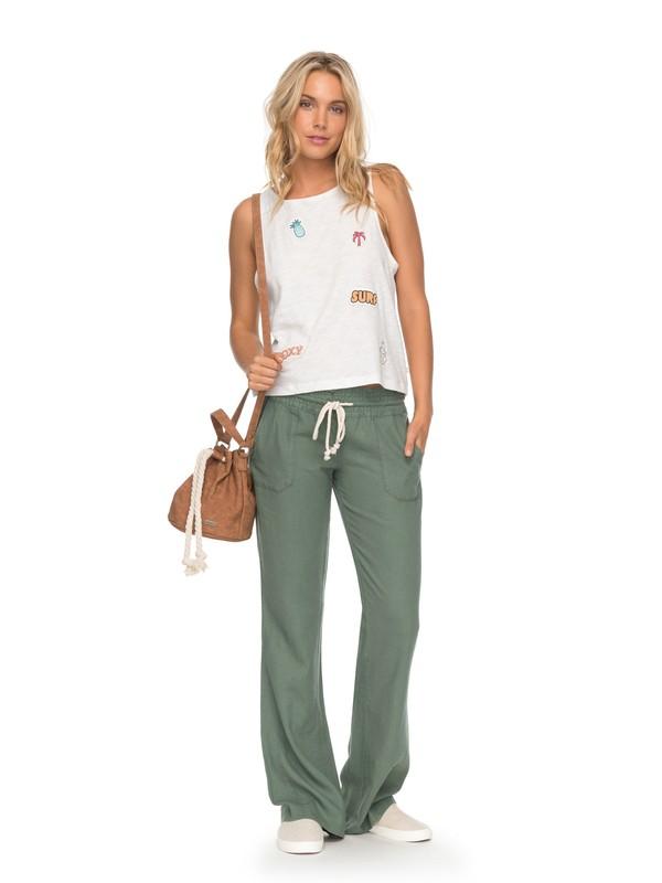 0 Oceanside Beach Pants Green ARJNP03006 Roxy