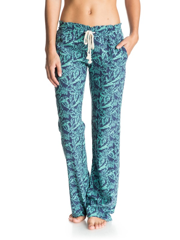0 Oceanside Printed Beach Pants Blue ARJNP03013 Roxy