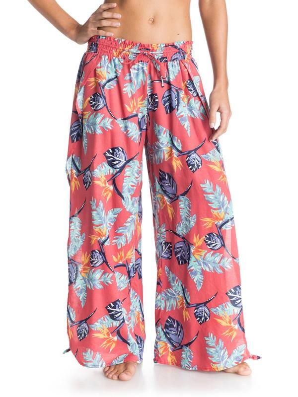 0 Easy Breezy - Printed Split-Side beach pants  ARJNP03063 Roxy