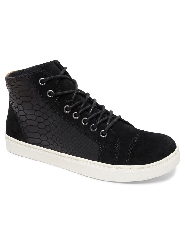 0 Melbourne - Lace-Up Leather Shoes Black ARJS100018 Roxy