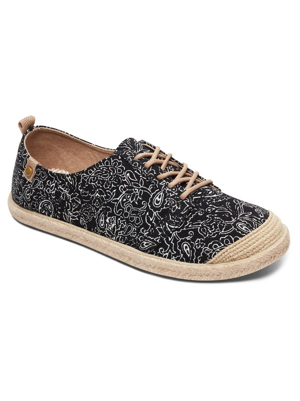 0 Flora Lace Up - Zapatillas Negro ARJS600417 Roxy