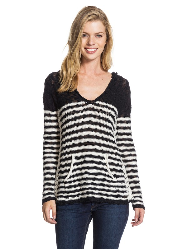 0 White Caps Stripe Pancho Black ARJSW03009 Roxy