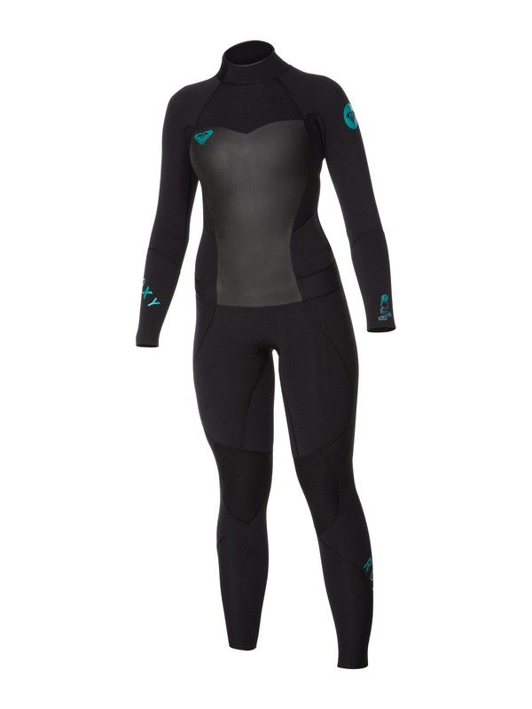 0 Syncro 5/4/3mm Back Zip Wetsuit Black ARJW103011 Roxy