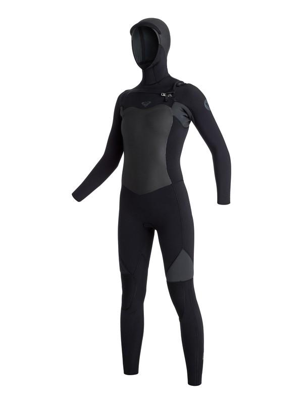 0 5/4/3mm Syncro GBS Chest Zip Hooded Fullsuit  ARJW203003 Roxy