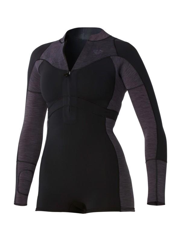 0 XY Long Sleeve Front Zip Springsuit Black ARJW403001 Roxy