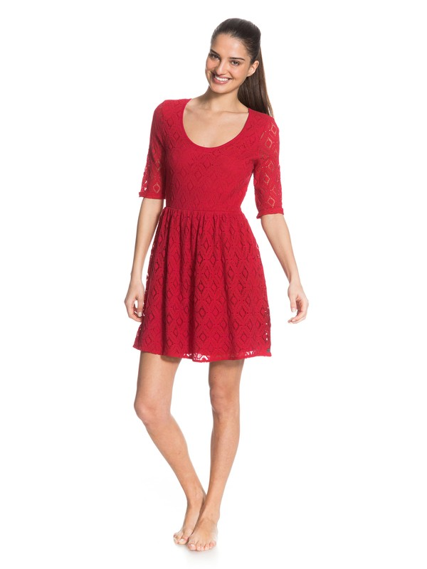 0 Out There Dress Pink ARJWD03017 Roxy
