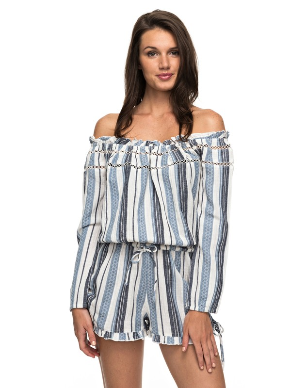 0 Anthem Cold Shoulder Romper Blue ARJWD03177 Roxy