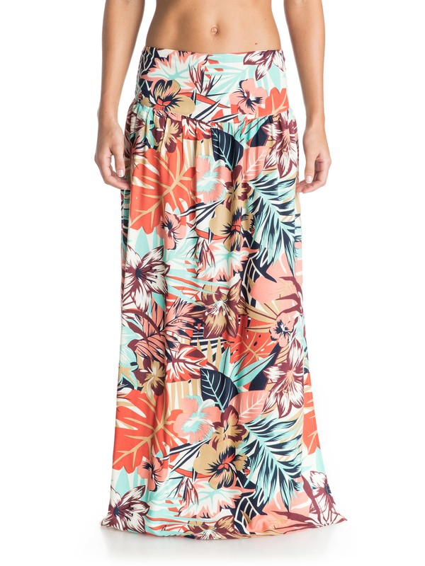 0 Lola Maxi - Floral Print Maxi Skirt  ARJWK03019 Roxy