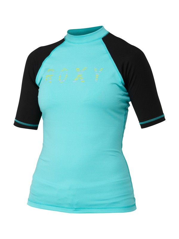 0 Perfect Stripe Short Sleeve Rashguard  ARJWR00027 Roxy